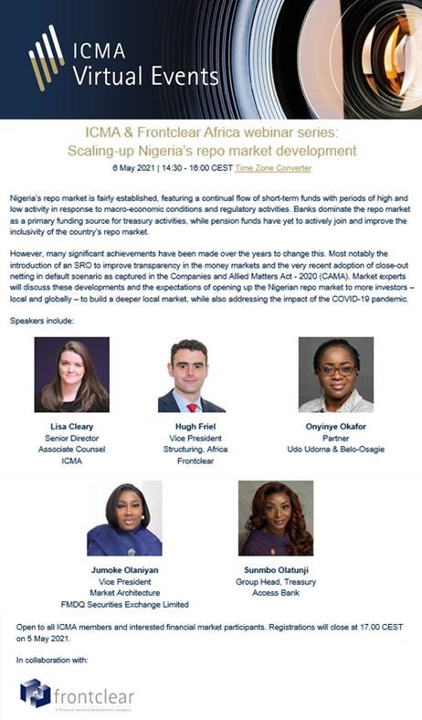 ICMA & Frontclear Africa webinar series: Scaling-up Nigeria's repo market development